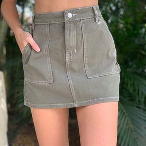 PacSun Army green mini skirt